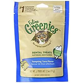 FELINE GREENIES Natural Dental Care Cat Treats 2.5 oz, Tuna
