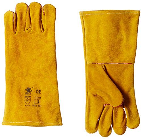 Acme Safewell LG-808 Red Split Welding Gloves with lining, Yellow, Economy, Pack of 1 Pair Price & Reviews