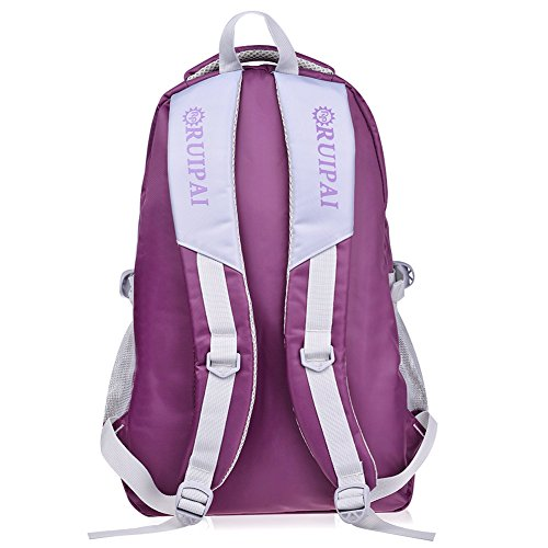 Vbiger Girl's & Boy's Backpack for Middle School Cute Bookbag Outdoor Daypack (Purple 1) by VBIGER (Image #2)