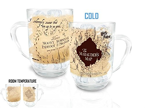 Harry Potter Marauders Map Morphing Cold Sensitive - Potter Glass Harry