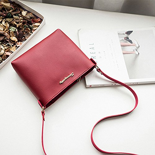 de Mujer estilo 016 Piel preppy Red Bags Sintética CD Mounter fBpXUa