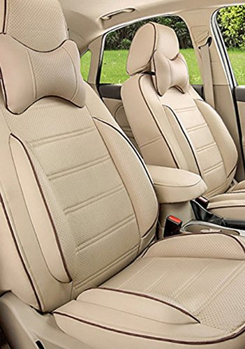 Wondrous Frontline Accessible Series Beige Pu Leather Car Seat Cover Ocoug Best Dining Table And Chair Ideas Images Ocougorg