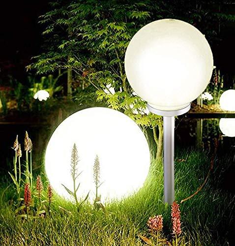 Jumbo Giant LED Solar Garden Mood Ball Sphere Globe Stake Light White (20cm Diameter)