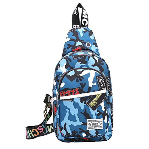 Chest Crossbody Blue Hiking For Sling Men Mingmo Oxford Travel Backpack Camo Shoulder Lightweight Cloth Triangle Daypack Women Packs Bag Yx1xqtwH
