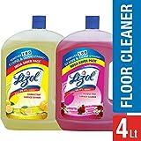 Lizol Disinfectant Floor Cleaner - 2 L (Citrus) with Disinfectant Floor Cleaner - 2 L (Floral)
