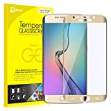 "S6 Edge Screen Protector, JETech® 0.2mm Thinnest Full Screen 5.1"" Premium Tempered Glass Screen Protector Film for Samsung Galaxy S6 Edge (Gold)"