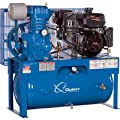 - Quincy QP-7.5 Pressure Lubricated Reciprocating Air Compressor - 14 HP Kohler Gas Engine, 30-Gallon Horizontal, Model# G314K30HCE