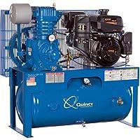 - Quincy QP-7.5 Pressure Lubricated Reciprocating Air Compressor - 14 HP Kohler Gas Engine, 30-Gallon Horizontal, Model# G314K30HCE