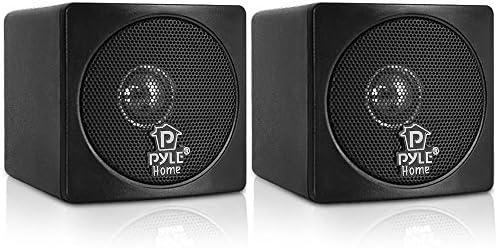 3″ Mini Dice Bookshelf Audio system – 100W Small Bookshelf Audio system w/ 3″ Paper Cone Driver, 8 Ohm – Passive Audio Guide Shelf Speaker Pair For Residence Theater Stereo Encompass Sound – Pyle Residence PCB3BK (Black)