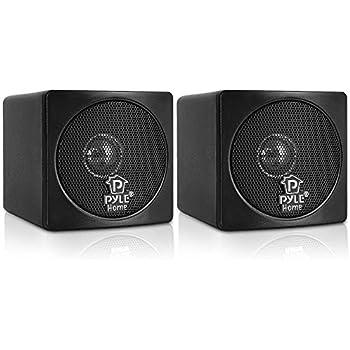 Pyle Home PCB3BK 3 Inch 100 Watt Mini Cube Bookshelf Speakers