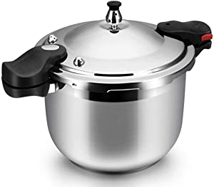 Pressure Cooker Stainless Steel Stock Pot Slow Cooker Automatic Locking Cover Energy-saving Time-saving Induction Cooker Gas Stove General Household Commercial Pressure Cooker 8L