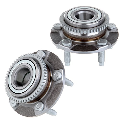 ECCPP Pair of 2 Front Wheel Hub Bearing Assembly 1994-2004 Ford Mustang 5 Lugs W/ABS 513115x 2
