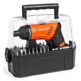 Best Choice Products 3.6V Cordless Power Electric Screwdriver w/Charger, LED Light, 50 Bits, Twist Handle, Carry Case