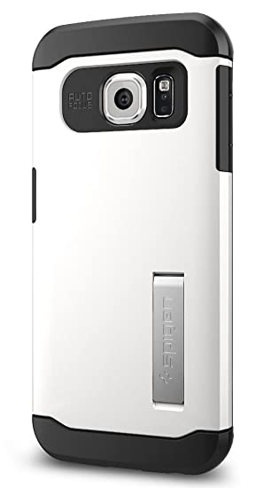 competitive price 78b72 6d5da Spigen Slim Armor Galaxy S6 Edge Case with Kickstand and Air Cushion  Technology and Hybrid Drop Protection for Galaxy S6 Edge 2015 - Shimmery  White