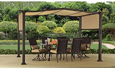 Steel Pergola Gazebo 12u0027 X 10u0027 Outdoor Patio Shelter