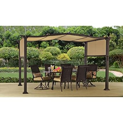 Steel Pergola Gazebo 12' x 10' Outdoor Patio Shelter - Amazon.com: Steel Pergola Gazebo 12' X 10' Outdoor Patio Shelter