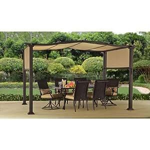 Amazon Com Steel Pergola Gazebo 12 X 10 Outdoor Patio Shelter