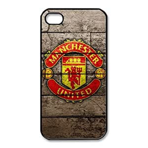 iphone4 4s case(TPU), Manchester United top logo Cell phone case Black for iphone4 4s - HHKL3340281
