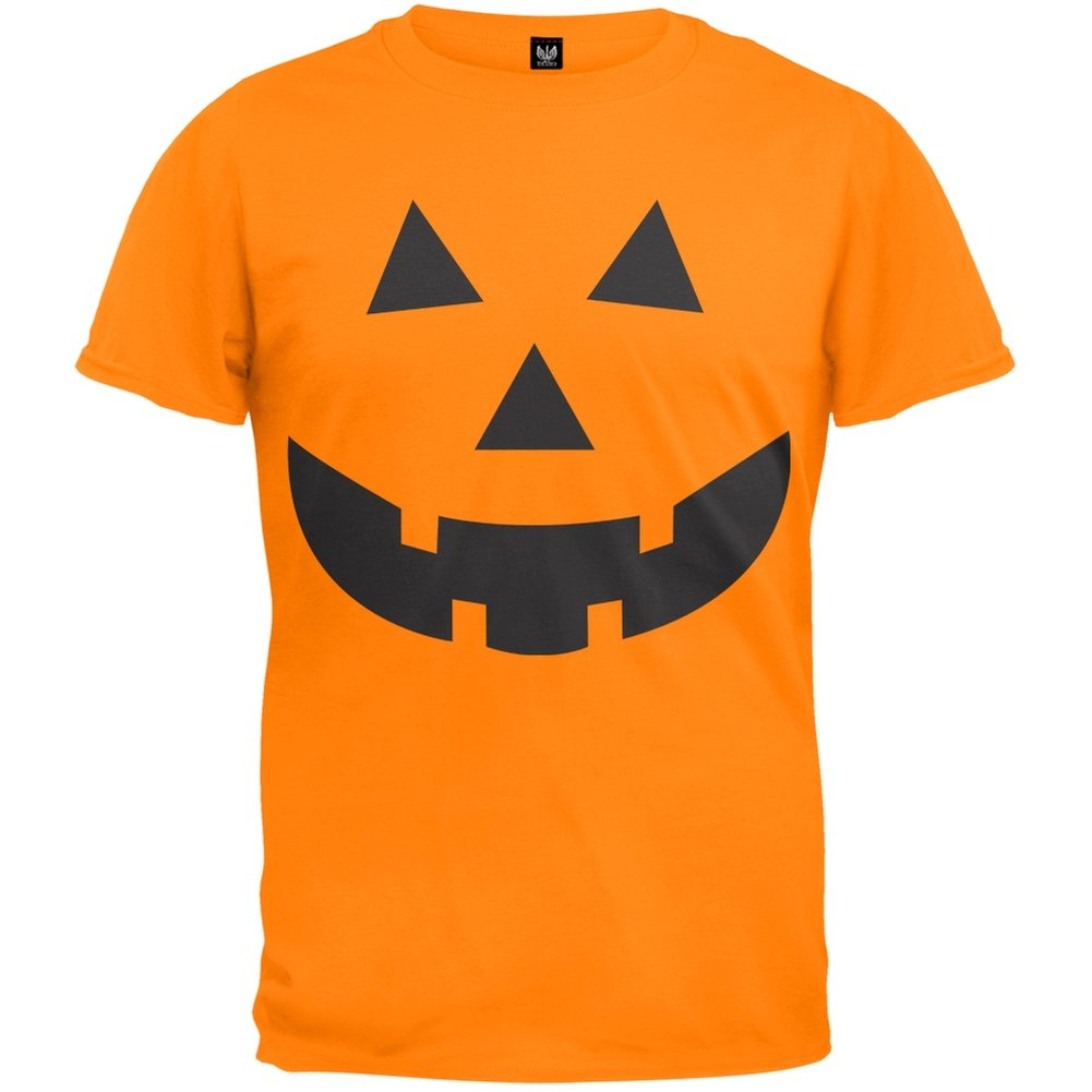 Halloween Jack-O-Lantern Face Youth T-Shirt Tee'S Plus
