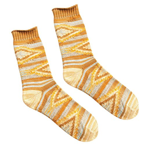 Sagton Womens Thick Warm Socks Winter Fashion Boot Socks Yellow FAAoI