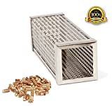 "Image of Stainless Steel Pellet Tube Smoker 6"" Smoker Pipe Square BBQ Pellets for Barbecue, Smoker, Grill"