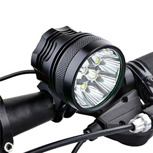 Kinrui Hot Sell Hot Style 28000LM 11 x CREE XM-L T6 LED 8 x 18650 Bicycle Cycling Light Waterproof Lamp (Black)