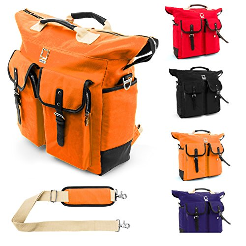 Universal Lencca Premium Canvas Backpack Tote Briefcase C...