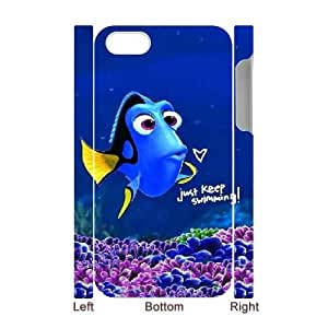 Just keep swimming Cheap Custom 3D Cell Phone Case Cover for iPhone 4,4S, Just keep swimming iPhone 4,4S 3D Case