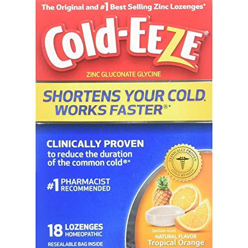 Cold-Eeze Lozenges Tropical Orange Flavor - 18 Ct., Pack of 3