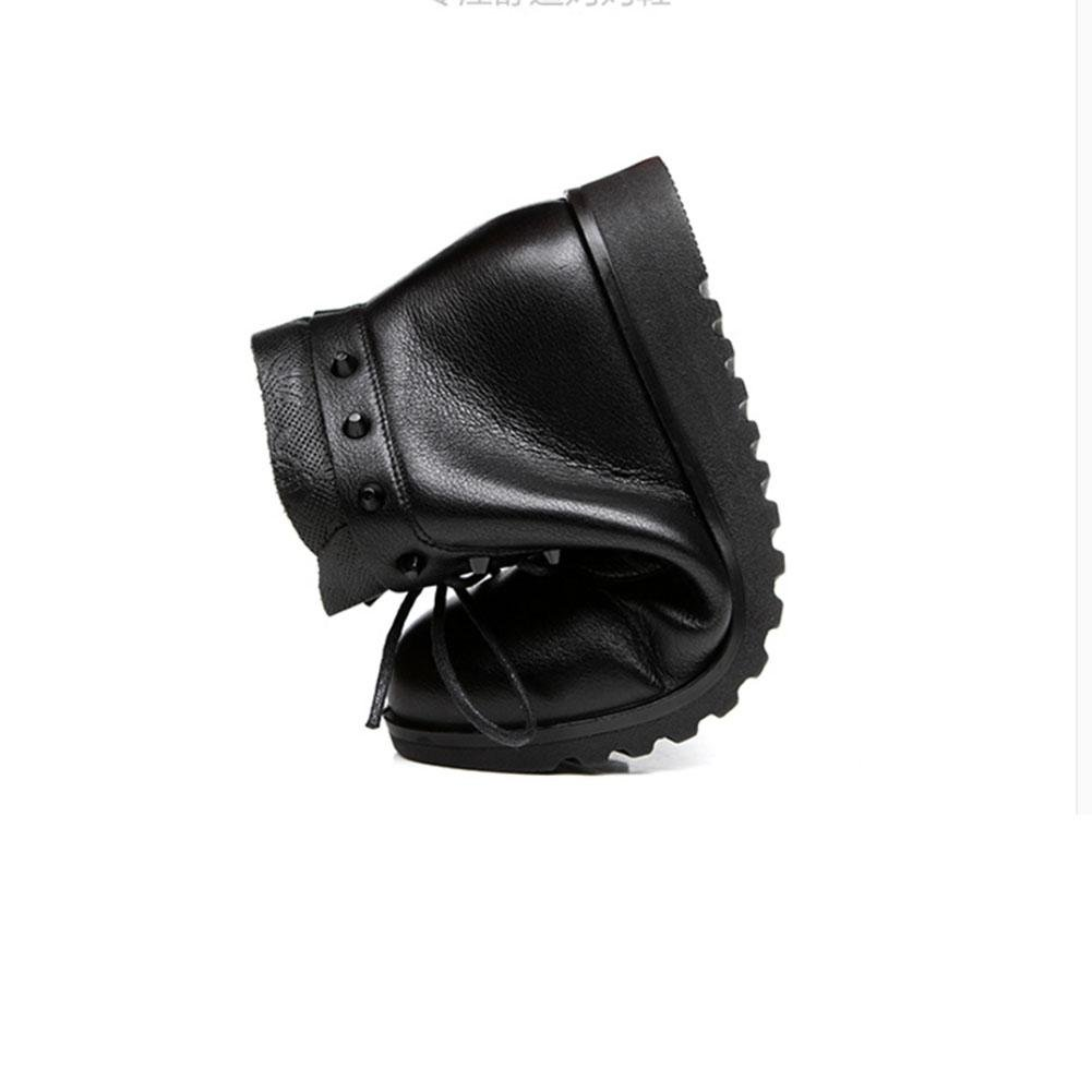 Calzado casual de invierno Plana y cómoda transpirable Botas Botas Botas de caminar calientes , 38 , Marrón afffa2