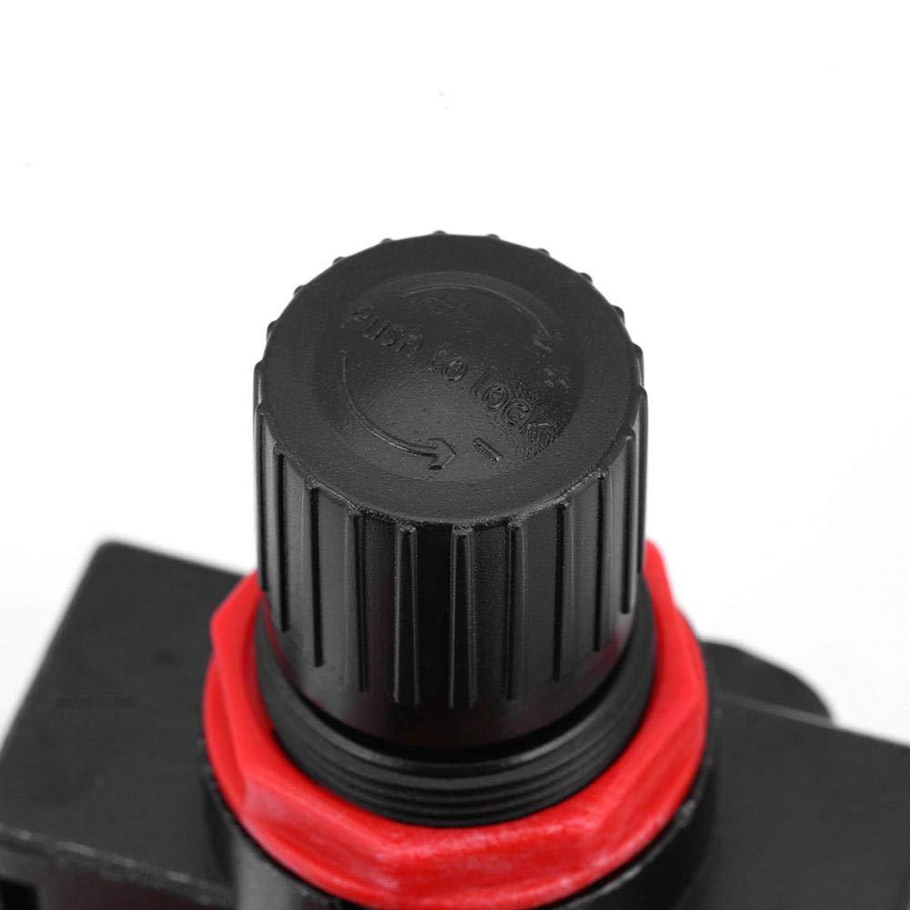 1//4 BFR-2000 Air Source Gas Treatment Unit Filter Pressure Relief Reducing Regulator with Gauge Filter Valve