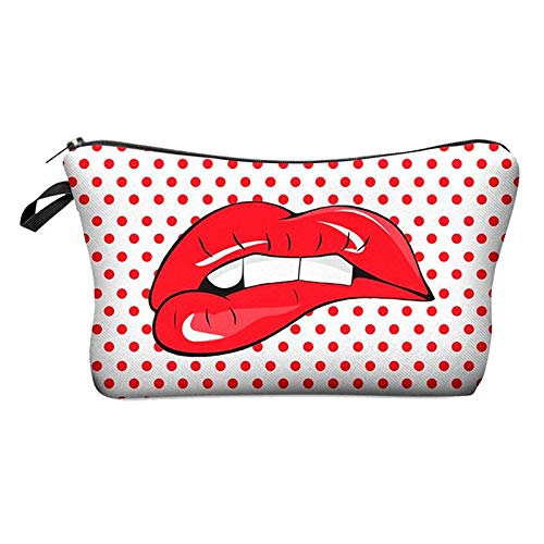 Cosmetic Bag Travel Bag Cosmetic Organizer Bag(Red Lips) A9D8