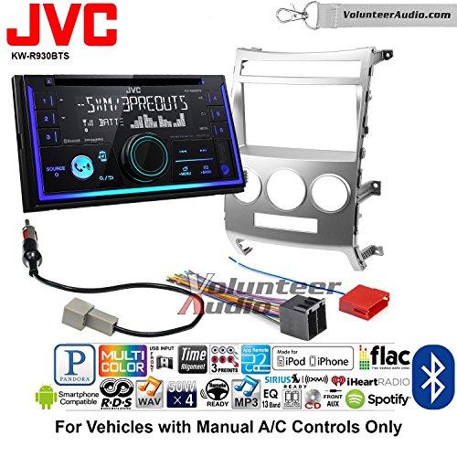 - Volunteer Audio JVC KW-R930BTS Double Din Radio Install Kit with Bluetooth USB AUX Fits 2007-2012 Hyundai Veracruz (Manual A/C Controls)