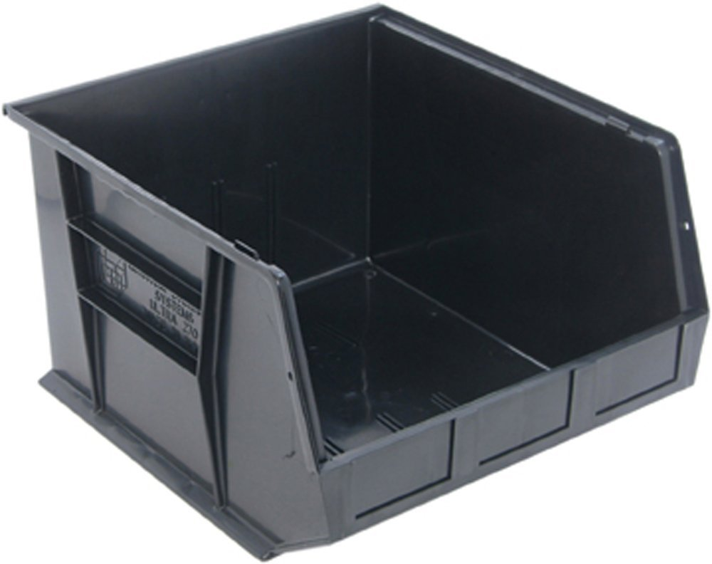 Quantum Storage Systems Stack and Hang Bin, 18L X 16-1/2W, Blk by Quantum Storage Systems
