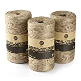 Mceal Natural Jute Twine String for Packing 1050 Feet Art & Craft Gardening (3 Ply 3 PCS x 350 FT)