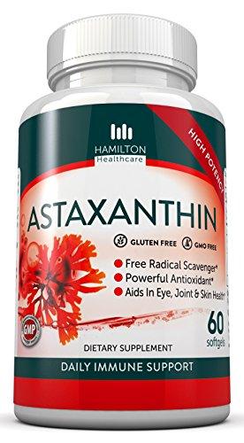 Astaxanthin 10 mg Formula - Supports Cholesterol, Cardiovascular & Eye Health - 60 Softgels by Hamilton Healthcare by Hamilton Healthcare