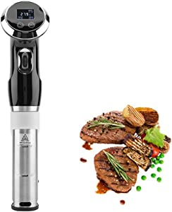 Jadpes ???????????????????????????????????? ???????????????? Household Low-Temperature Slow Cooker, 1500W Sous Vide Cooker Immersion Circulator Cooker with Digital Display with Lid Lock, Dishwasher(UK)