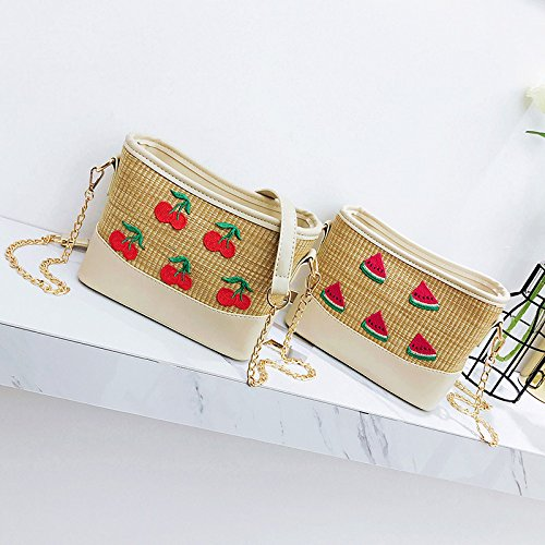 Bag GAOQQ Weave Bananas Handbag Crossbody Holiday Bag watermelons Chain Summer Beach x11qg