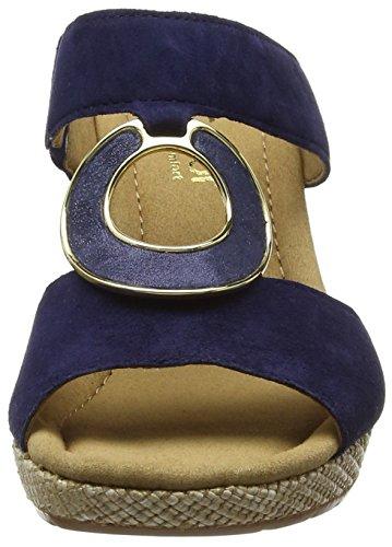 GaborSizzle - Sandalias con Cuña mujer Azul - Blue (Blue Suede/Perlato/Jute)