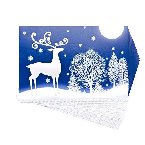 Price comparison product image Hallmark Holiday Boxed Cards (Snow Deer,  16 Christmas Greeting Cards and 17 Envelopes)