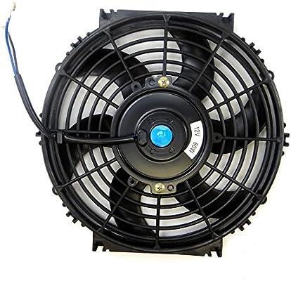Universal Slim Fan Push Pull Electric Radiator Cooling Fans 12V 80W Engine Fan with Mount Kit (Diameter 10.75 Depth 2.56