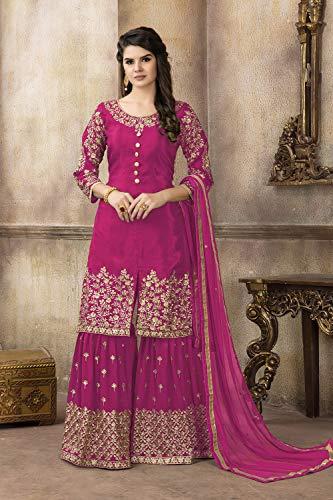 Traditonal Women Kameez Ethnic Partywear Salwar Designer Pink Indian IgqBwSAI