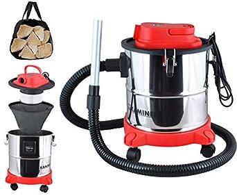 Kaminer - Aspiradora de Cenizas Aspirador de Cenizas Filtro Chimenea 20l 1200w Filtro hepa Dual Filtro # 1162