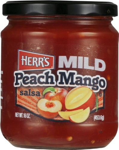 Herr's Salsa Peach Mango Mild - (Pack of TWO Jars)