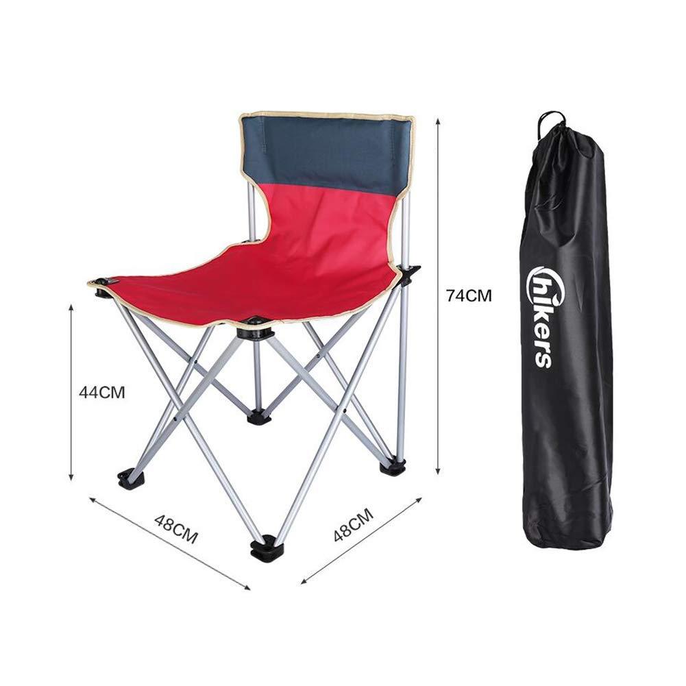 JIEER-C Fritid kontorsstol stol fällbar kraftig vadderad camping festival hopfällbar vadderad bärbar väska hållbar stark T11