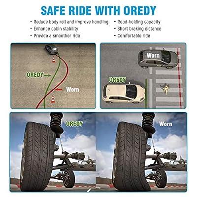 OREDY Shocks and Struts Rear Pair Complete Struts Assembly 15362 15361 172309 172310 SR4112 SR4113 Shocks Coil Spring Assembly Kit: Automotive