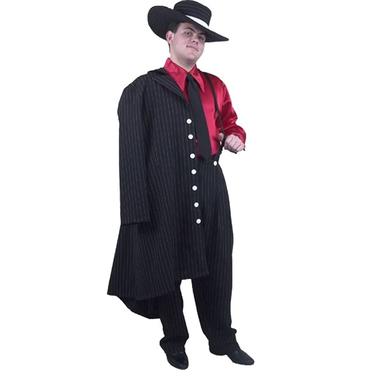 Amazon.com: Adult Men\'s Zoot Suit Costume (Size: X-small 34-36 ...
