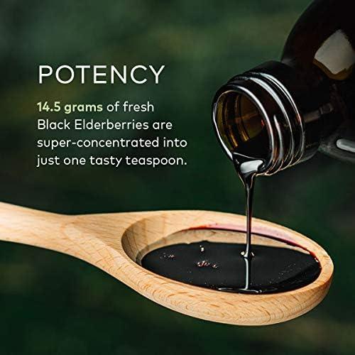 Gaia Herbs Black Elderberry Syrup - Daily Immune Support with Antioxidants, Organic Sambucus Elderberry Supplement, 5.4 Fl Oz (Pack of 1) 4