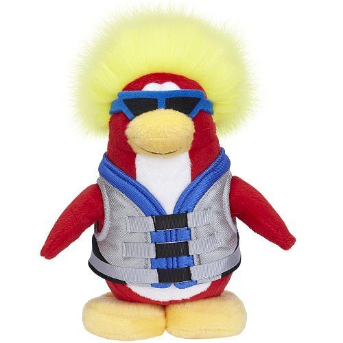 Disney Club Penguin 6.5 Inch Series 6 Plush Figure Water Sport Includes Coin with Code! (Club Penguin Plush Toys)