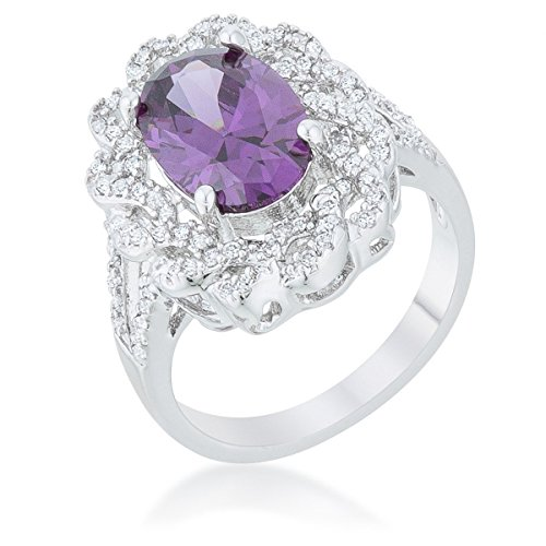 WildKlass Amethyst Oval Classic Ring by WildKlass Jewelry